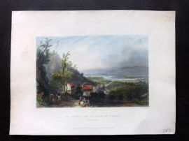 Bartlett America C1840 HC Print Descent into the Valley of Wyoming, Pennsylvania